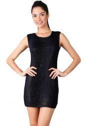 Something Borrowed Petite  Something Borrowed Petite Velvet Cheetah Print Dresses Purple Black