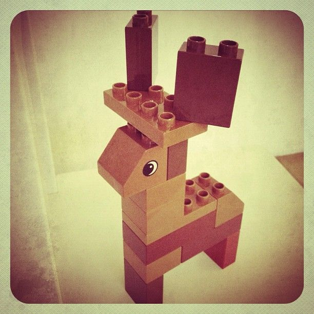 Finn's Raindeer. DIY toy for my baby in #Lego #Duplo