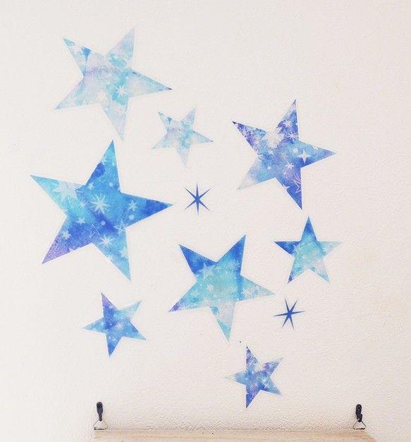 夜空の星 ウォールステッカー/ウォールデコ【送料込】|その他インテリア雑貨|syk|ハンドメイド通販・販売のCreema