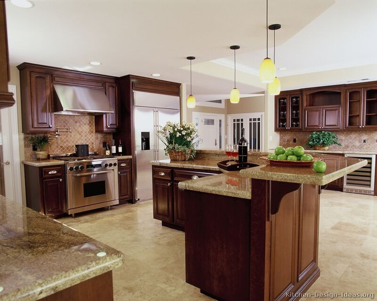Kitchen Backsplash Ideas With Cherry Cabinets 90 best cherry color kitchens images on pinterest | cherry kitchen
