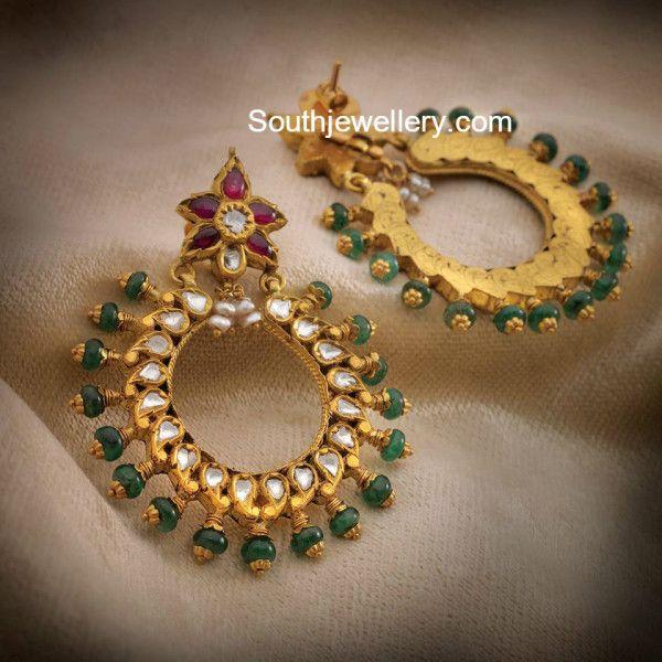 Antique Gold Chandbalis photo