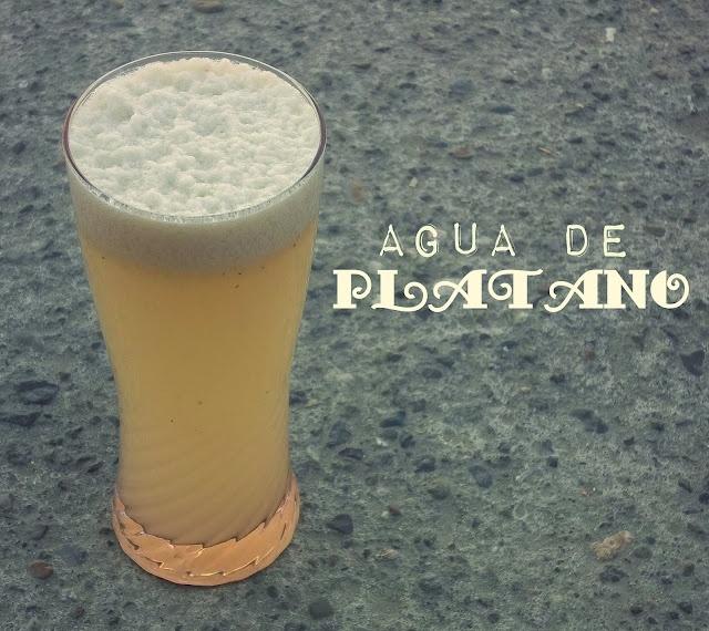 Agua de Platano & Bunuelos de Platano (banana smootie and banana bunuelos