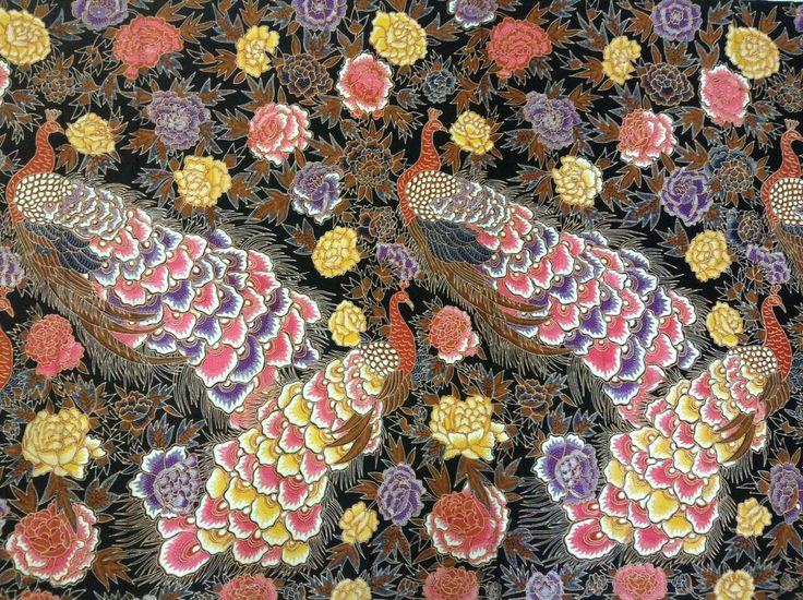 Pink peacock batik