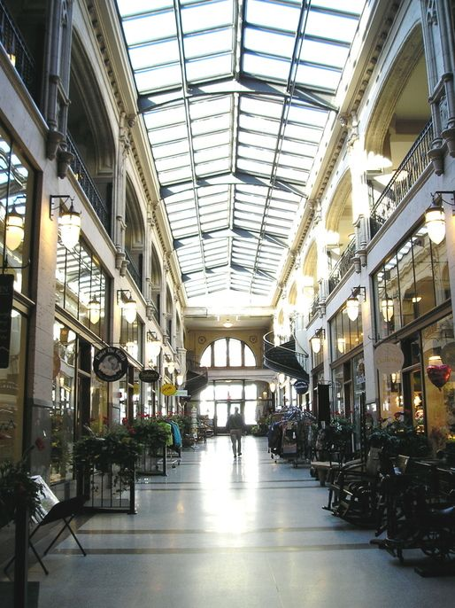 Asheville, NC : The Grove Arcade, Historic Shopping Center downtown Asheville, NC.....  I took this pic!
