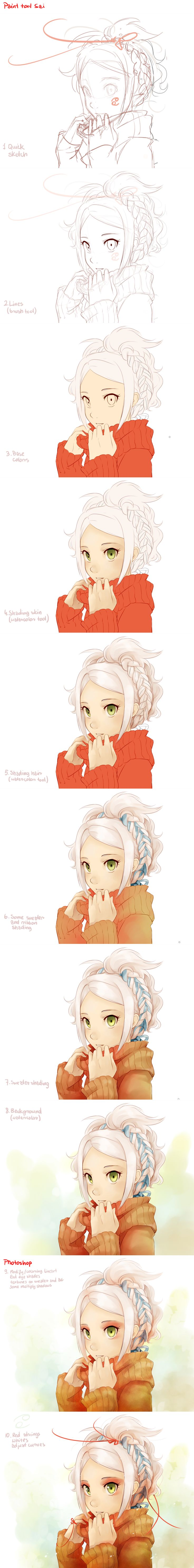 best images about 채색튜토리얼 on Pinterest How to draw