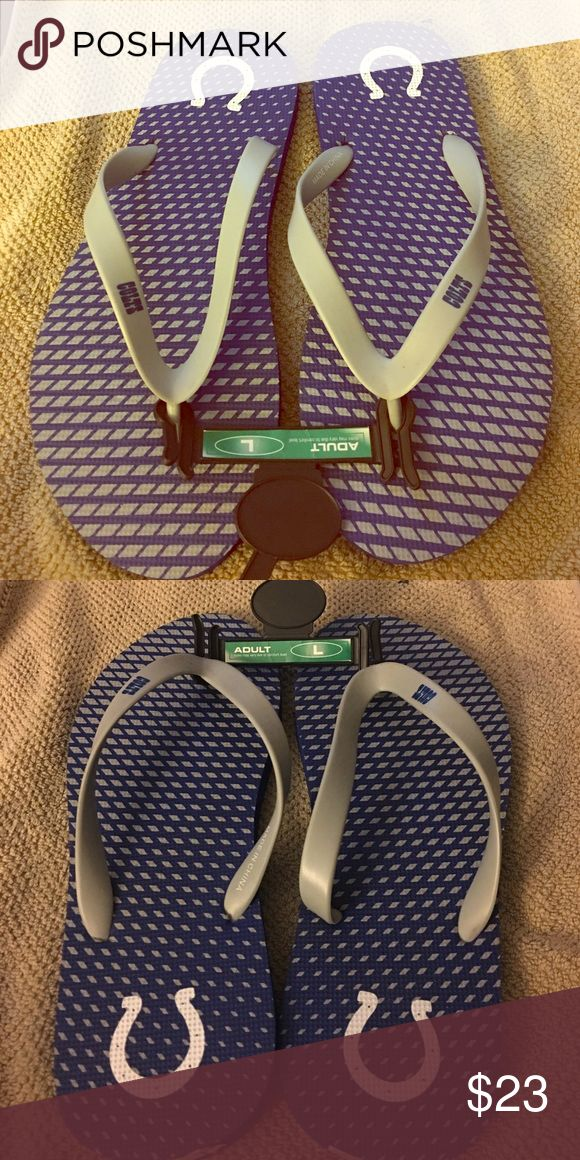 Indianapolis Colts flip flops Men Colts flip flops. Brand new Colts Shoes Sandals & Flip-Flops