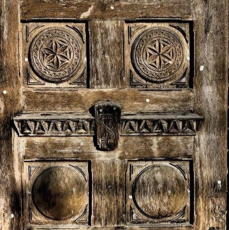Romanian carved door