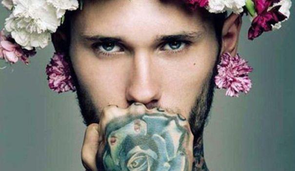 men flower tattoos