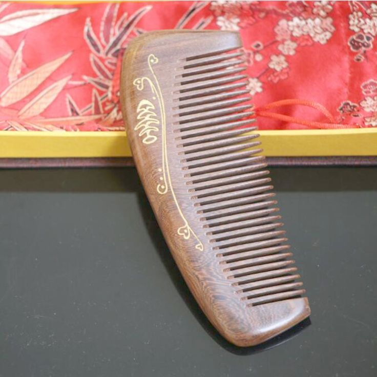 Top  quality   hand made   natural ebony hair comb wooden hair comb wooden hair comb 15-03