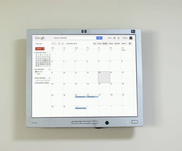 Recently I purchased my first home. In the kitchen there was a small TV wall mounted however the TV itself was faulty so I was wondering, what should I do with this wall bracket since I didn't really want a TV in the kitchen area. Then it dawned on me, instead of using a paper calendar with tiny little boxes to write things in I want my Google calendar on the wall. To tackle this instructable you should have a general understanding of home networking and computing, some linux experience...