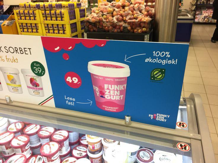 Funky Frozen Yoghurt har funnet veien til frysedisken.