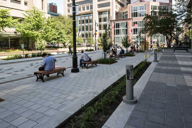 Design urbain / Promenade Fleuve-Montagne, rue McTavish, université McGill, Montréal / The promenade Fleuve-Montagne, McTavish street, McGill university, Montreal