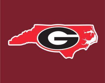 Georgia Bulldogs Custom Car Window Decal | Bulldogs Custom Car Sticker | For you Georgia Fans Living in North Carolina | Go Bulldogs