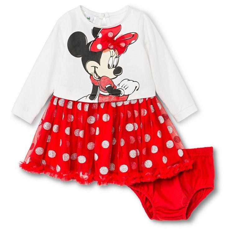 Minnie Mouse Newborn Girls' Dress Set - Beige 0-3 M