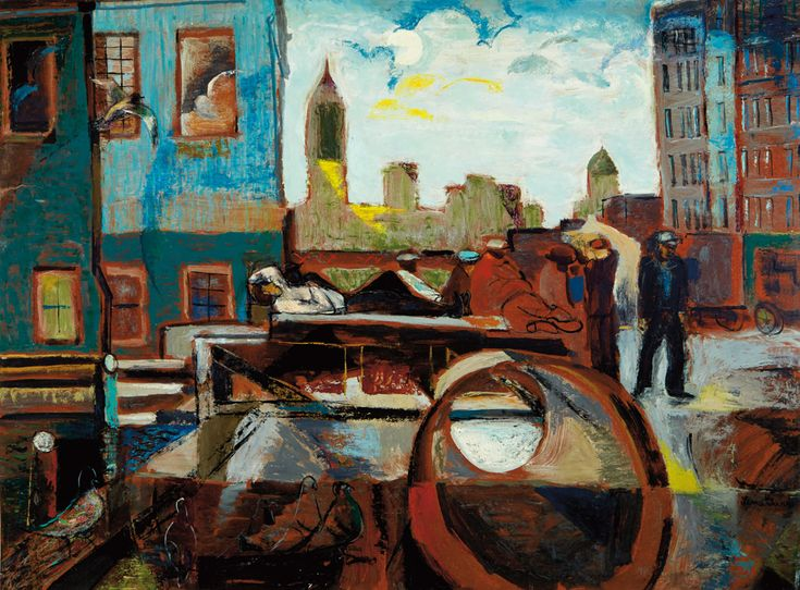 24 best lena gurr images on pinterest art art art paintings and artist couple lena gurr and joseph biel both painted versions of this composition this is lenas titled new york at dusk oil circa you can see sciox Gallery