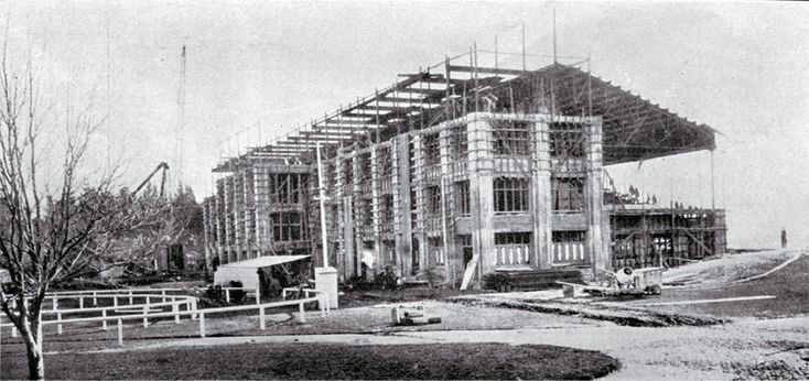 Rear view of the grandstand, Riccarton Racecourse 1922