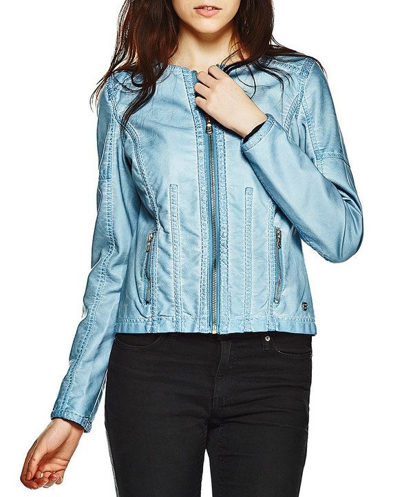 Look at this Point Zero Sky Blue Zip-Up Jacket on #zulily today!