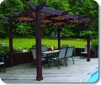 Attirant Lattice Roof For Filtered Shade. (Wood Pergolas Westport | Backyard America  | Pergolas)
