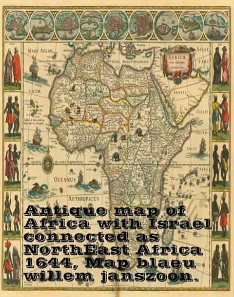 Israel map with Africa