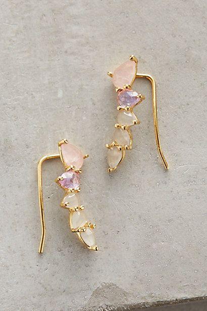 Lilac Crawler Earrings #anthropologie