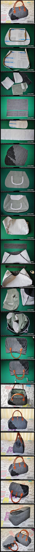 Sac de bricolage avec couture dentelle DIY Sac avec dentelle couture par francine