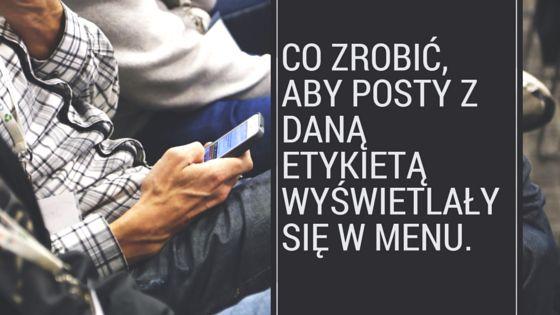 CO ZROBIĆ, ABY POSTY Z DANĄ ETYKIETĄ WYŚWIETLAŁY SIĘ W MENU. http://zzyciaannyt.blogspot.com/2015/06/co-zrobic-aby-posty-z-dana-etykieta.html