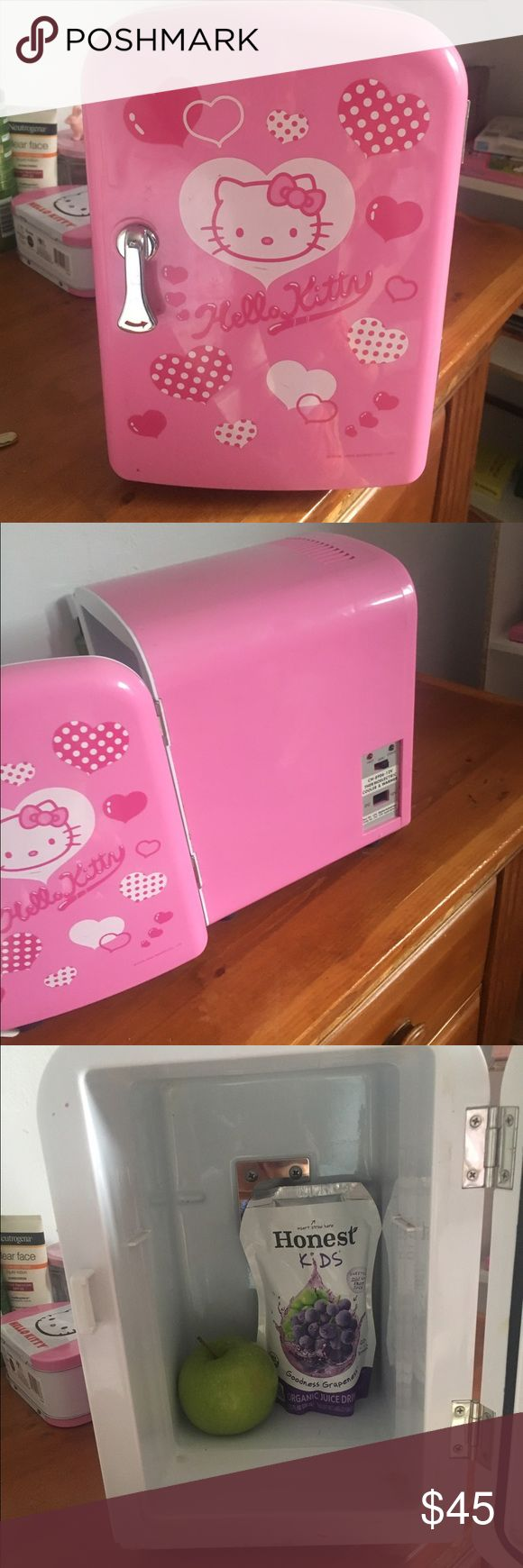 2004 edition Hello kitty Fridge Kawaii pink mini fridge! Great for dorm or office! I'm only selling to buy more school supplies for my 1st grader since I lost my job. Please feel free to ask questions or make an offer. I really love keeping snacks in this and it comes with a car adapter so if you have kids and you want to keep things cool but don't want ice this will be your BFF Hello Kitty Other