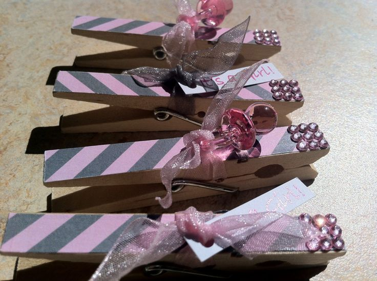 Decorative clothes pins for baby shower games north by for Decorative pins for crafts