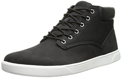 Timberland Men's Groveton Plain Toe Chukka , Black/Canvas, 10 M US