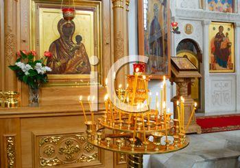 Royalty Free Photo of the Interior Details of he Holy Transfiguration Church of the Saviour and St. Evphrosinija Nunnery, Polotsk, Belarus