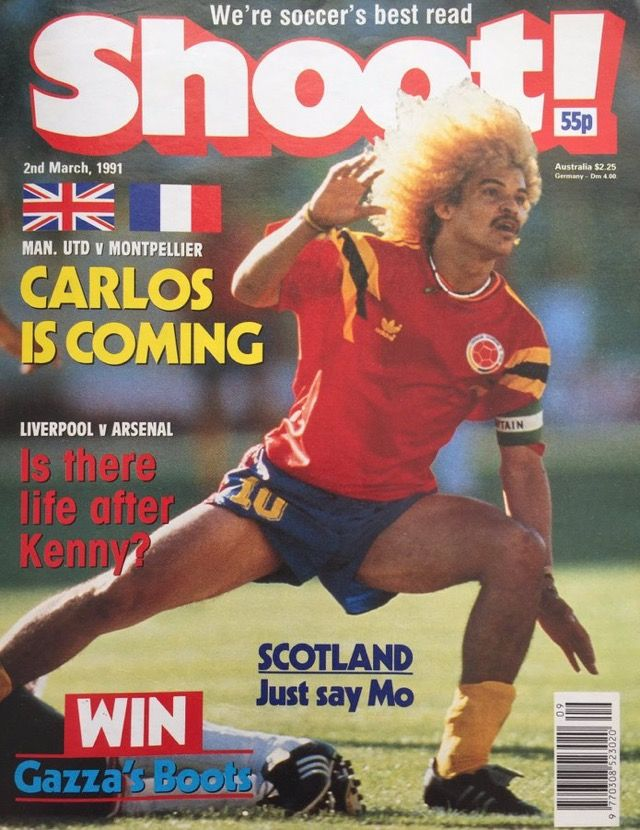 Shoot Magazine For March 1991 Featuring Colombia Ace Carlos Valderrama On The Cover Football Images Carlos Valderrama Cover