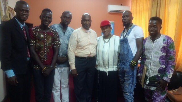 Gloria is busy in Sierra Leone spreading The Light Of Love and promoting The Marc Bolan School of Music and Film here she is recently meeting with  the advisor to the President and the Minister of Tourism  Help us spread the word please share our posts  KALMIYH #marcbolan #school #sierraleone #makeni #charity #lightoflove #chancetodance #guitarsnotguns #gloriajones