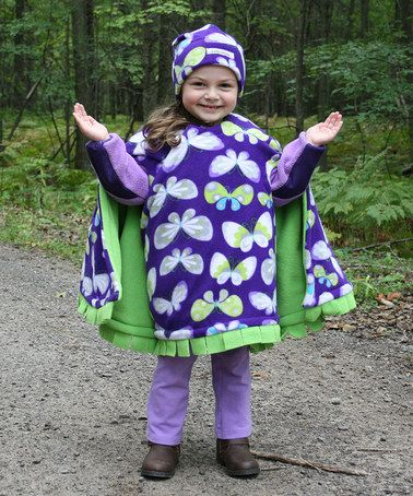 Loving this Purple Butterfly Car Seat Blanket & Hat - Toddler on #zulily! #zulilyfinds