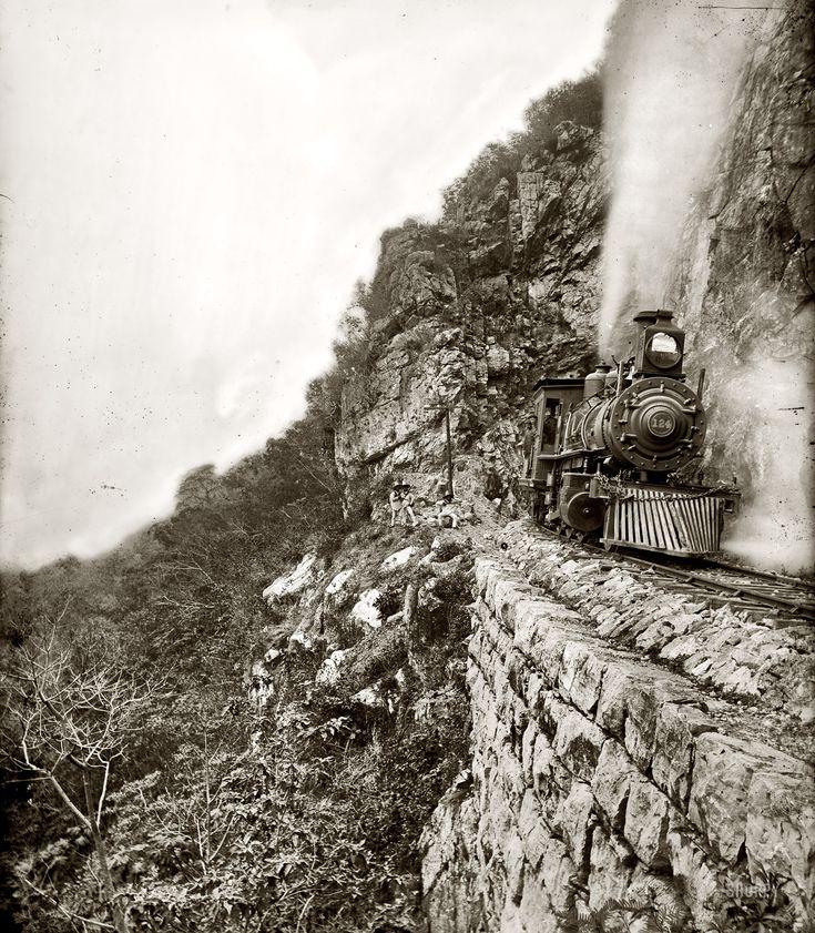 "San Luis Potosi, Mexico, circa 1890s. ""Tamasopo River Canyon."" Dry plate glass negative by William Henry Jackson, Detroit Publishing Co."