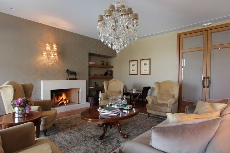 "5 star hotel ""du lac"" / Ioannina - Greece /  fire place sitting area  / interior designer Sissy Raptopoulou"