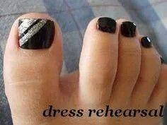 Black pedicure
