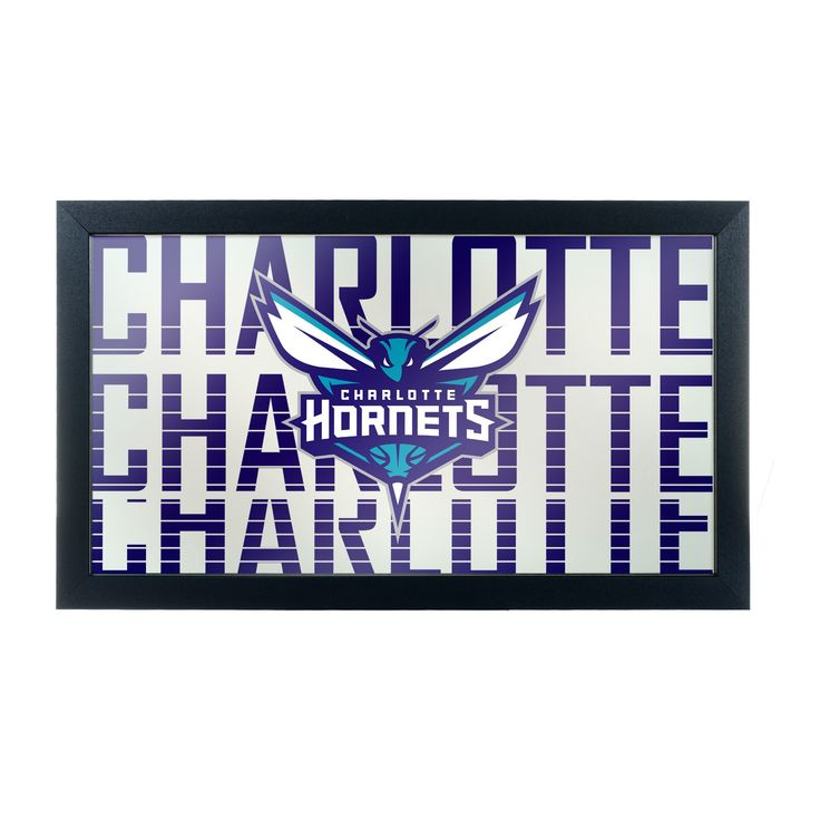 NBA Charlotte Hornets City Framed Logo Mirror