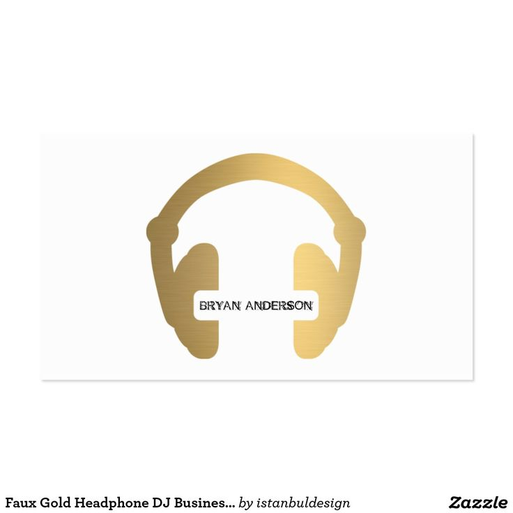 14 best business card ideas plumbing electrical dj images on faux gold headphone dj business card reheart Choice Image