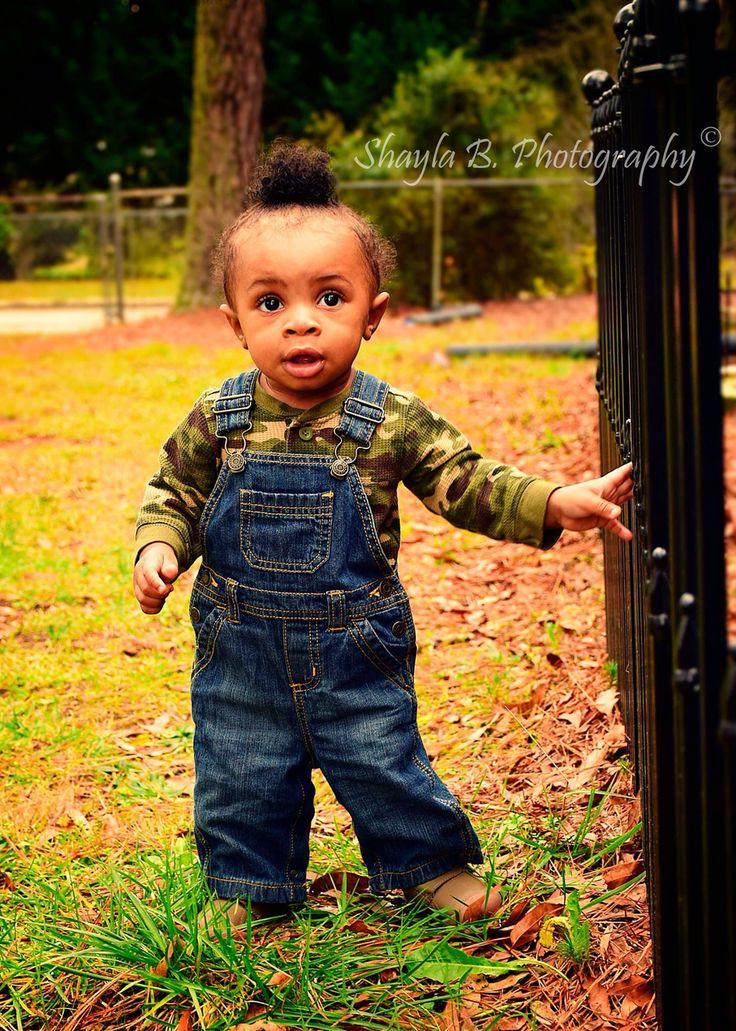 Prince Zyien Handsome Gorgeous Cutest baby boys black babies baby bun big brown eyes camo ...