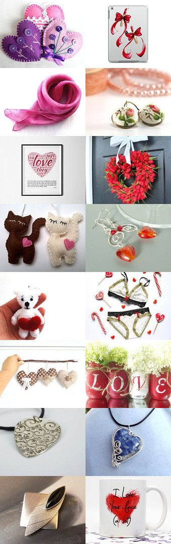 Happy Valentines Day! by Évi Csizmadia Lajosné on Etsy--Pinned with TreasuryPin.com