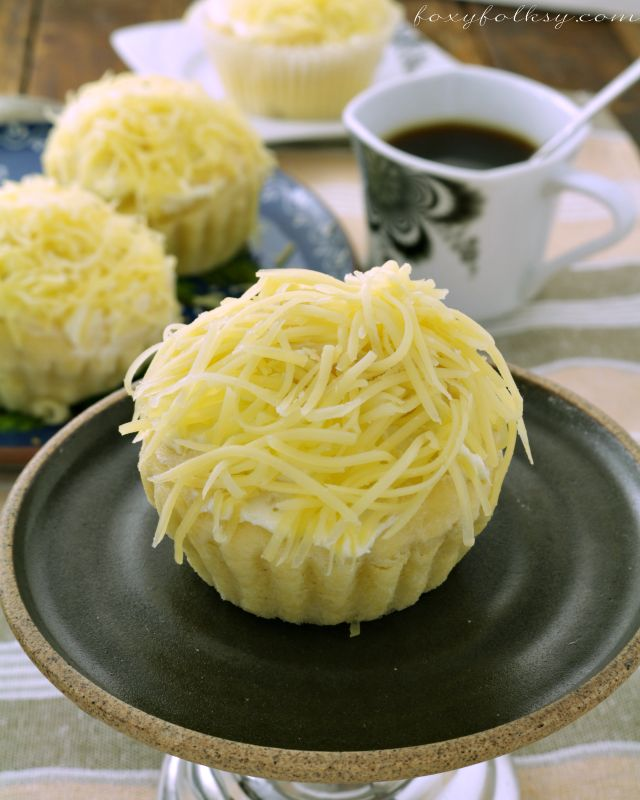 cheesy ensaymada recipe That soft, sweet bread covered with butter and sugar then topped with lots of grated cheese.| www.foxyfolksy.com