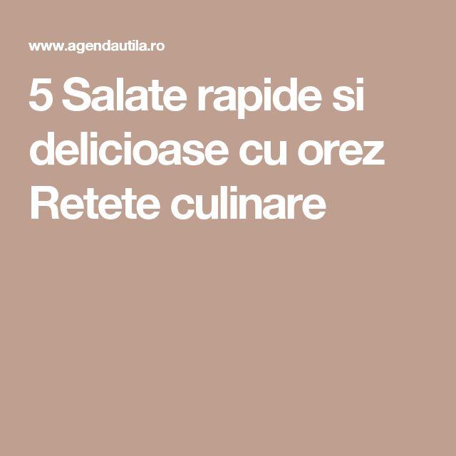 5 Salate rapide si delicioase cu orez Retete culinare