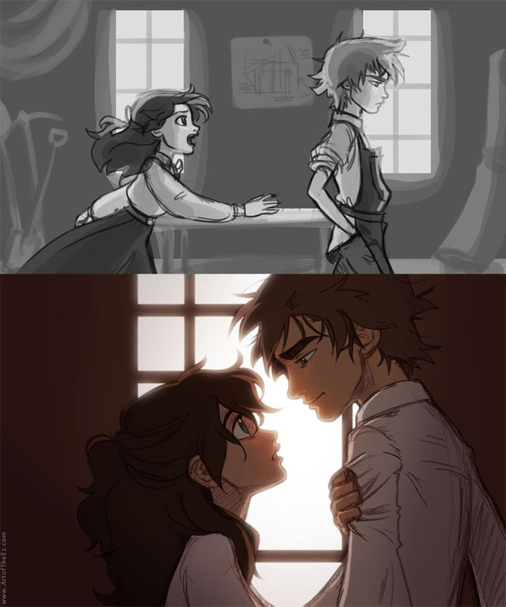 Young Ciana and Tallen at the top, and then on the bottom they're older in present time.