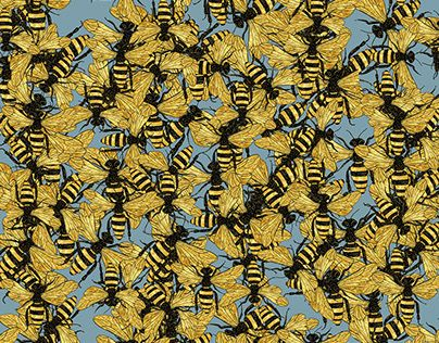 "Bees  by Vera Lazzarini  Check out new work on my @Behance portfolio: ""Bees"" http://be.net/gallery/57388635/Bees"