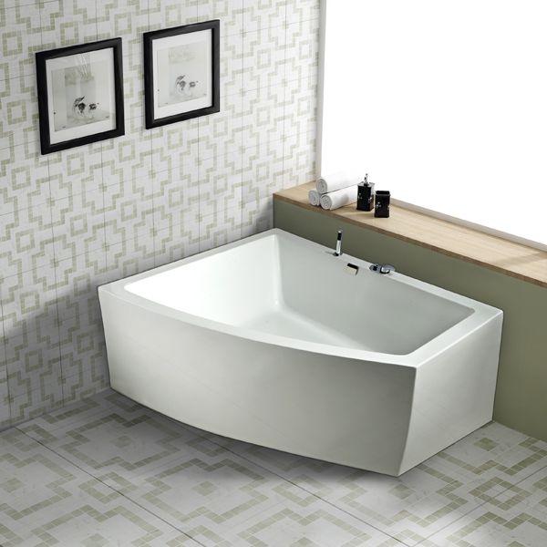 hjørnebadekar, badekar til hjørne, design badekar