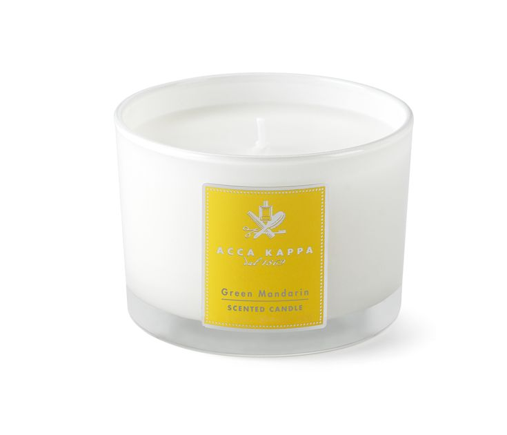 Acca Kappa hand made scented candles are perfect for any room in your home. The green mandarin fragrance will fill your space with the freshness of Mediterranean citrus fruits.