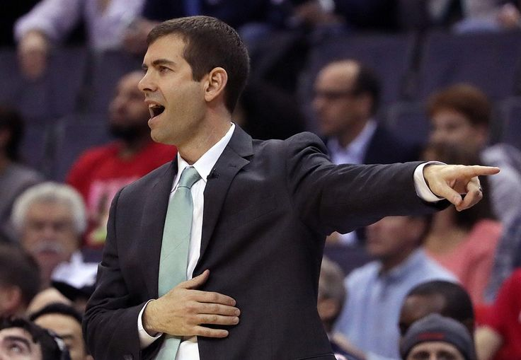 Washington, D.C. - 5/12/2017 - (1st quarter) Boston Celtics head coach Brad Stevens directing a play during the first quarter. The Washington Wizards host the Boston Celtics in Game 6 of the Eastern Conference Semi-Finals at the Verizon Center in Washington, D.C. - (Barry Chin/Globe Staff), Section: Sports, Reporter: Adam Himmelsbach, Topic: 13Celtics-Wizards, LOID: 8.3.2455943579.