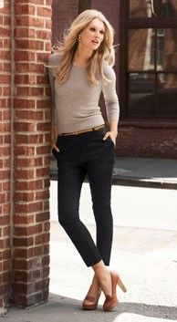 Here's an example of pull over sweaters done right with pants. The key is in the pants. If they fit well around the top of the hips then the look with be casual chic and flattering.