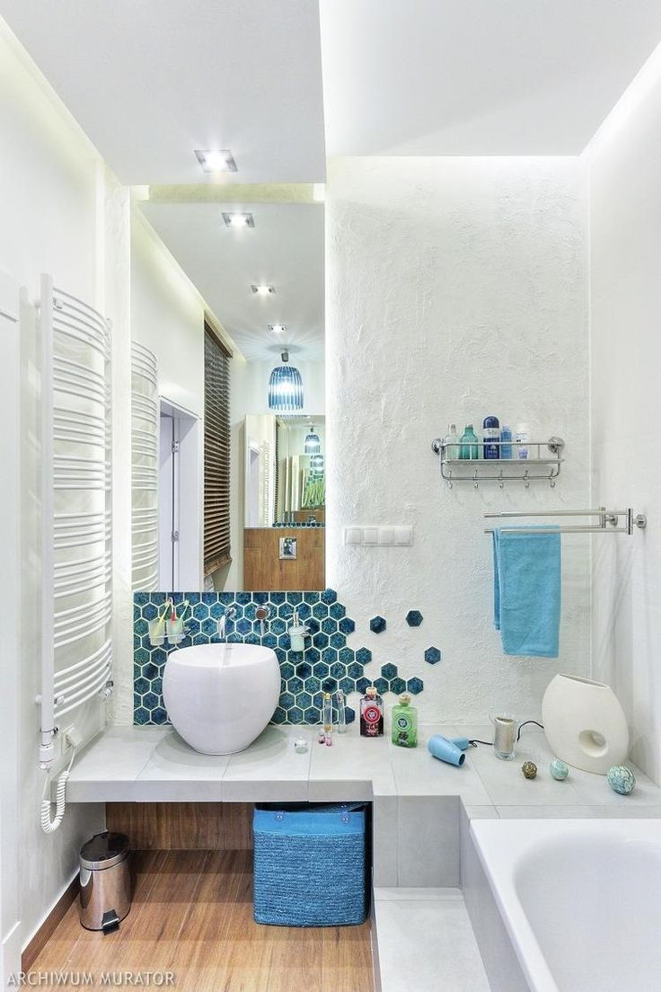 mała łazienka turkus - Google Search