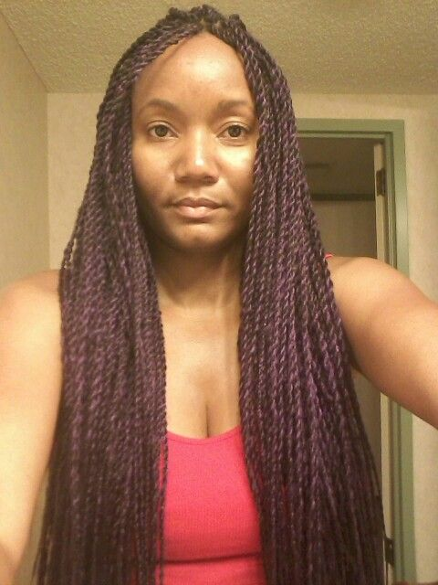 Tailbone length purple and violet senegalese twists!!!!